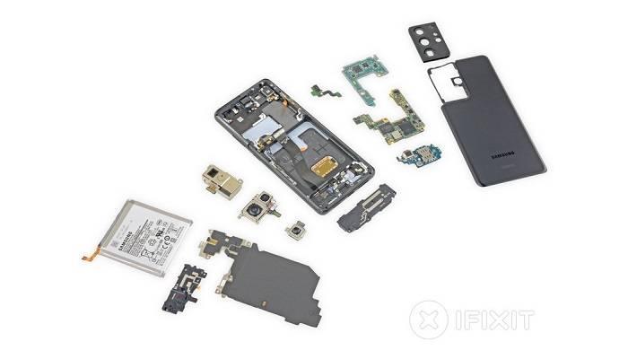 Samsung, Galaxy S21 Ultra, iFixit, Teardown